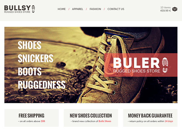 Buler in 30 Fresh and Free PSD Website Templates