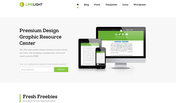 Clean in 30 Fresh and Free PSD Website Templates