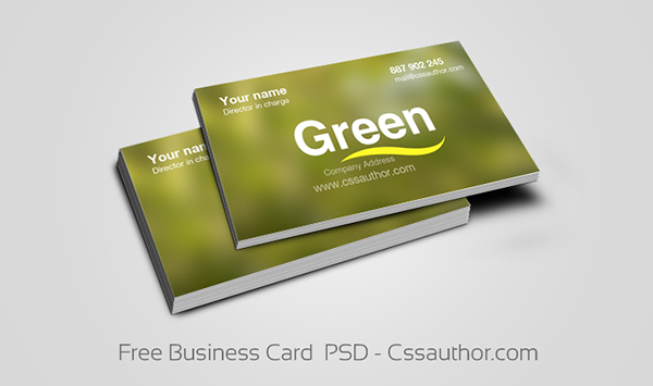 Free Business Card PSD Cssauthor