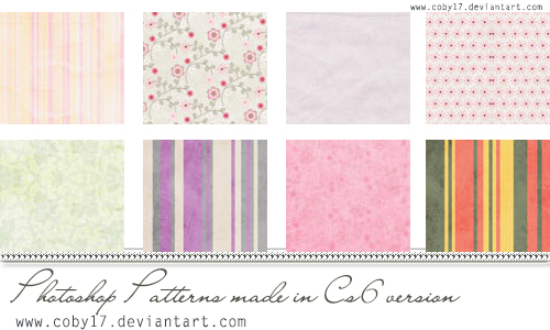 Girls Patterns by Coby17 in 30+ New Photoshop Pattern Sets
