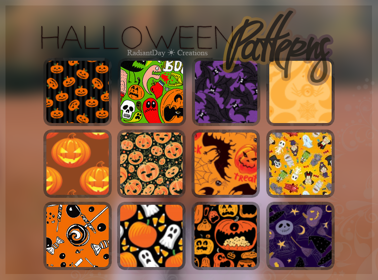 Halloween Patterns by RadiantDay in 30+ New Photoshop Pattern Sets