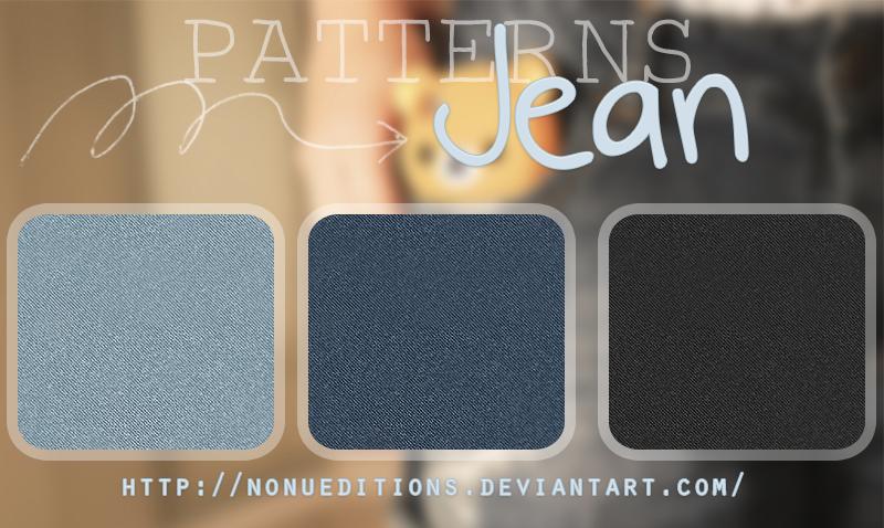 Jean Patterns by Nonuu in 30+ New Photoshop Pattern Sets