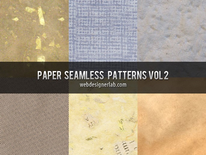 Paper Seamless Patterns Vol. 2 by Webdesigner Lab in 30+ New Photoshop Pattern Sets