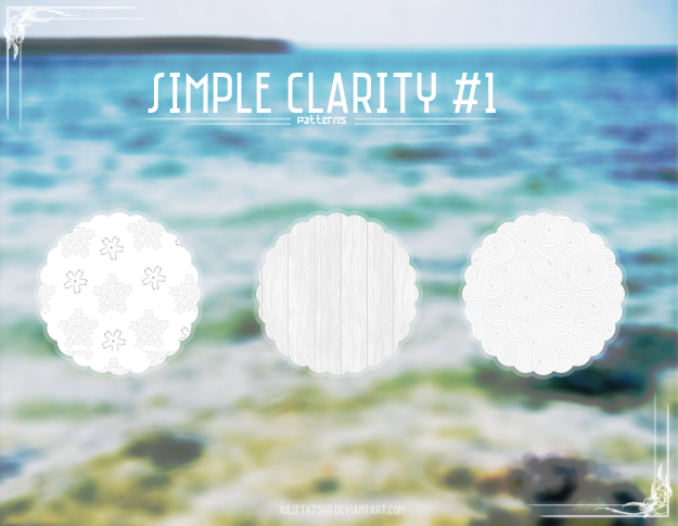 Simple Clarity #1 by Julieta7599 in 30+ New Photoshop Pattern Sets