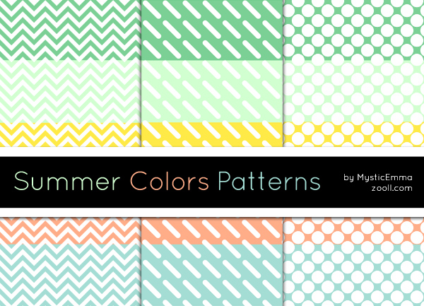 Summer Colors Patterns by MysticEmma in 30+ New Photoshop Pattern Sets