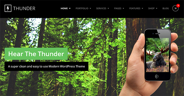 Thunder in 30 Fresh and Free PSD Website Templates