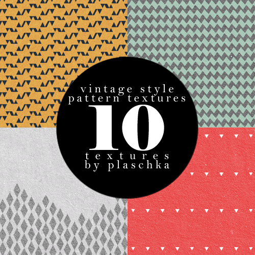 Vintage style pattern textures by rodiennes in 30+ New Photoshop Pattern Sets