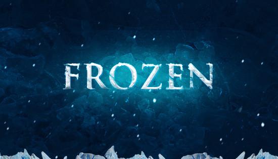 frozen text flatten 550x314 Create Realistic Frozen Text Effect in Photoshop