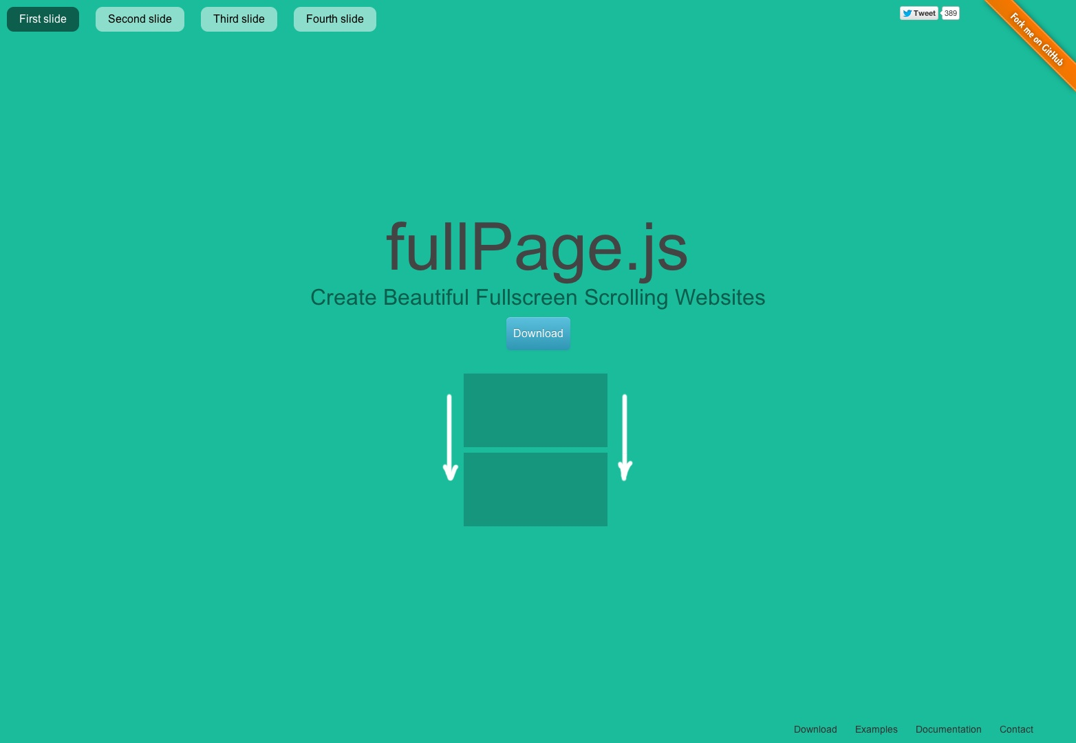 fullPage.js One Page Scroll Sites