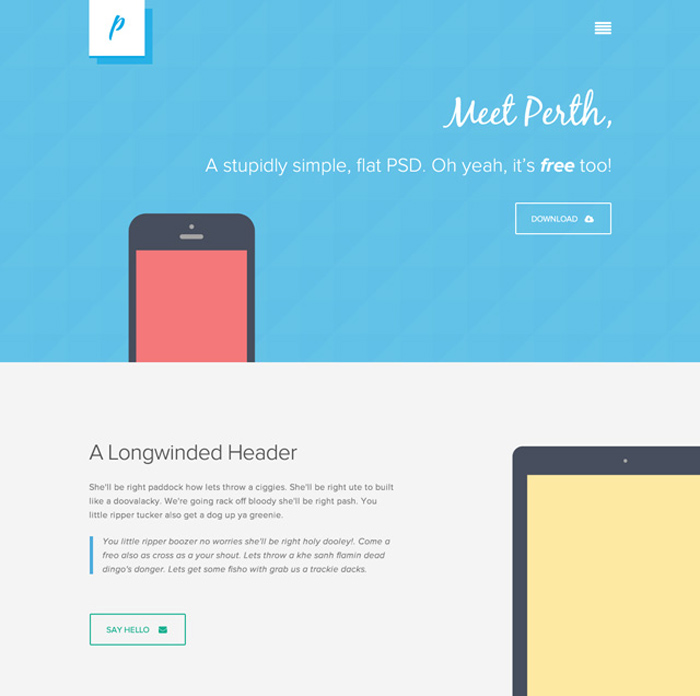 Perth PSD Website Template