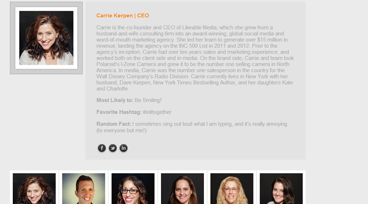 company internet marketing media likeable team employees