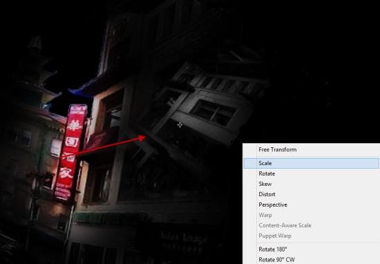 1 more building 550x382 Create Unleash the Dark Power Surreal Scene in Photoshop