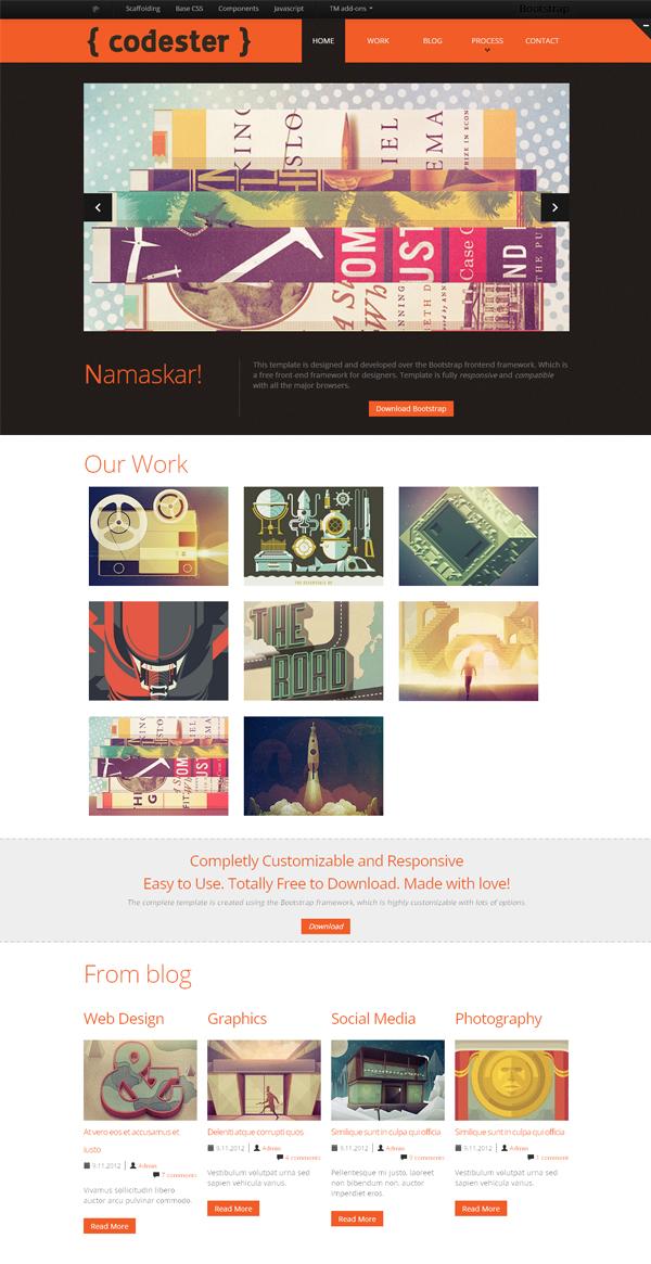 超赞!20款免费的高质量网站模板