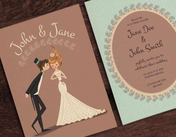 20款專業定製的精美婚禮請柬設計