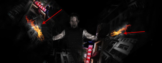 3 fire paste 550x215 Create Unleash the Dark Power Surreal Scene in Photoshop