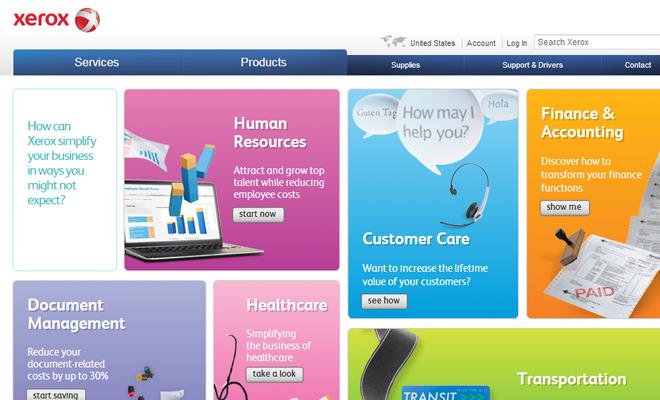 xerox website