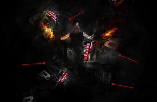 4 cloud 550x356 Create Unleash the Dark Power Surreal Scene in Photoshop