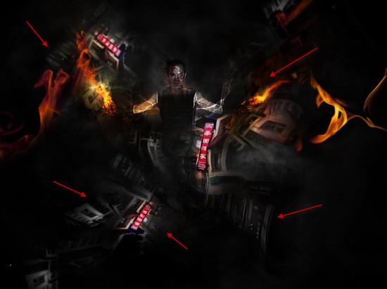 5 liq 2 550x411 Create Unleash the Dark Power Surreal Scene in Photoshop