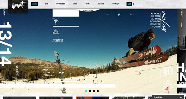 瑞雪兆丰年!20个融合雪景元素的网站设计