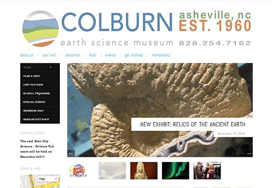 WordPress Museum Sites - The Colburn Earth Science Museum