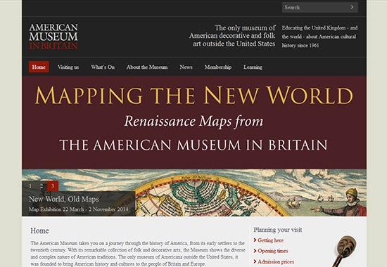 WordPress Museum Sites - American Museum in Britain