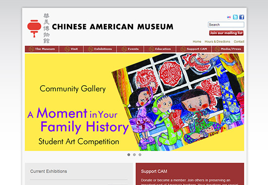 WordPress Museum Sites - Chinese American Museum