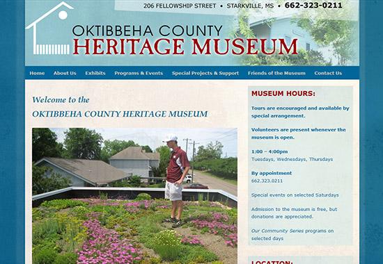 WordPress Museum Sites - Oktibbeha Country Heritage Museum