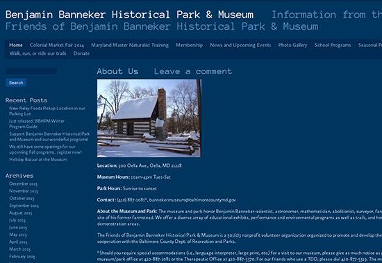 WordPress Museum Sites - Benjamin Banneker Historical Park and Museum
