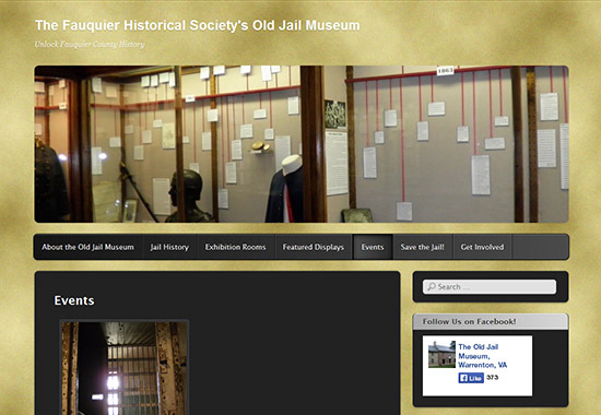WordPress Museum Sites - The Fauquier Historical Society's Old Jail Museum