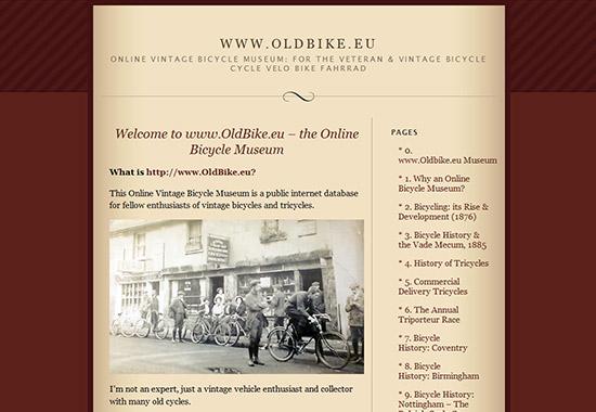 WordPress Museum Sites - Online Vintage Bicycle Museum