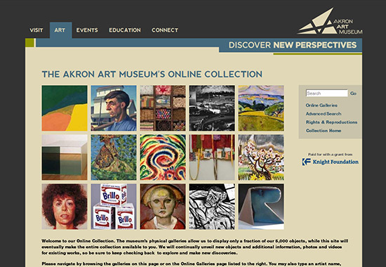 WordPress Museum Sites - The Akron Art Museum Online Collection