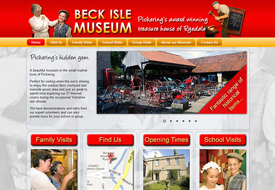 WordPress Museum Sites - Beck Isle Museum