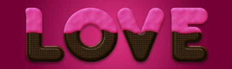PS新手教程:教你创建一枚巧克力奶油文字 - 优设网 - UISDC