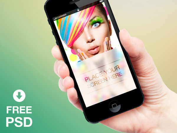 Free iPhone Mockup PSD