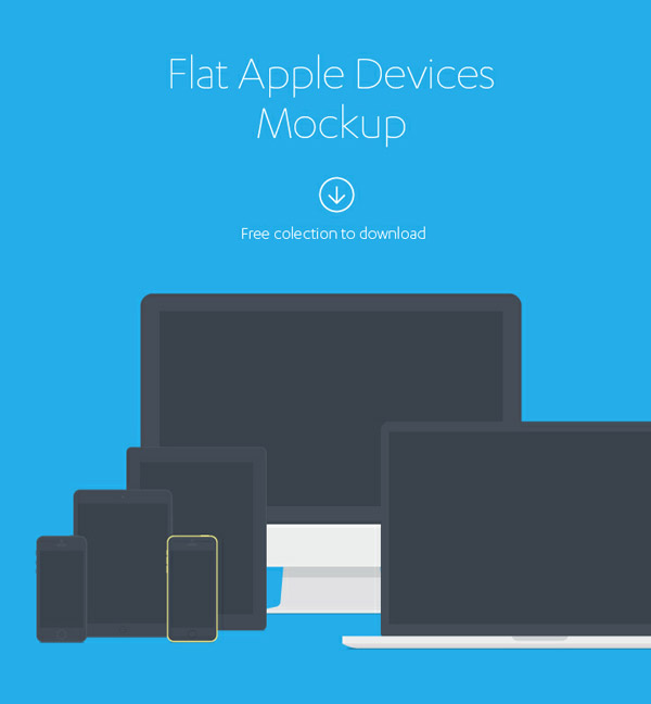 Flat Apple Devices Mock Up