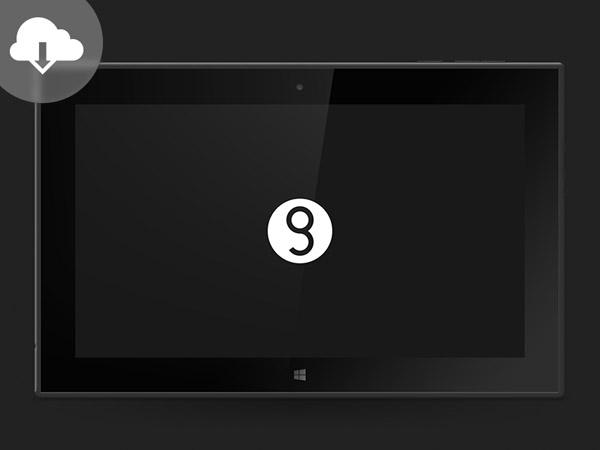 Nokia Lumia 2520 Mockup