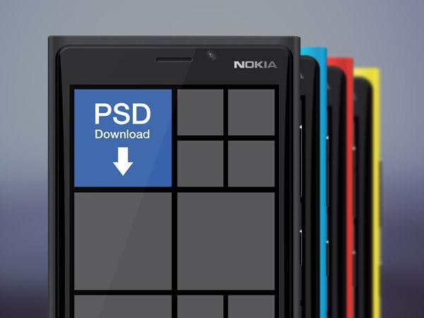 Nokia Lumia 920 Freebie PSD
