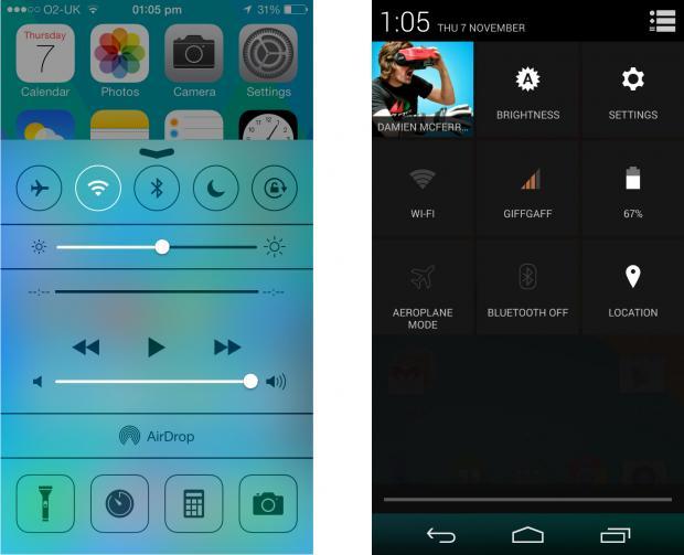 巨人之争!iOS7和Android4.4奇巧巧克力