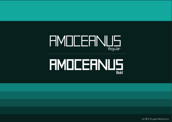 AMOceanus free font by AVMC GROUP AVMC STUDIOS in 25 Fresh and Free Fonts for February 2014