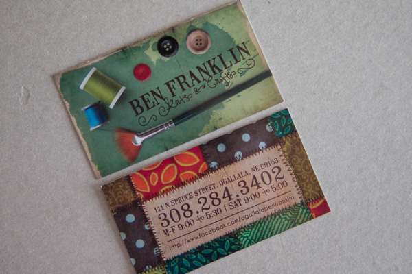 Arts & Crafts Store Business Cards by Melissa Elmblad in Showcase of 50 Creative Business Cards