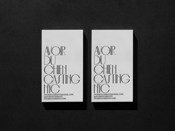 Avoir Du Chien Identity by Jesse McGowan in Showcase of 50 Creative Business Cards
