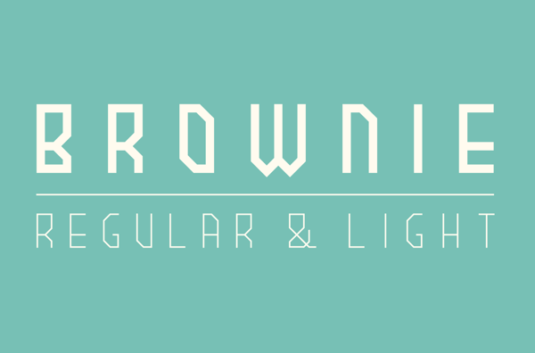 BROWNIE free font by nemk in 25 Fresh and Free Fonts for February 2014