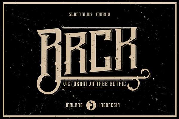 Bracker font by swistblnk in 25 Fresh and Free Fonts for February 2014