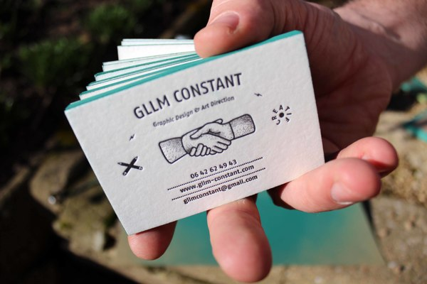 Business Card by Guillaume Constant in Showcase of 50 Creative Business Cards