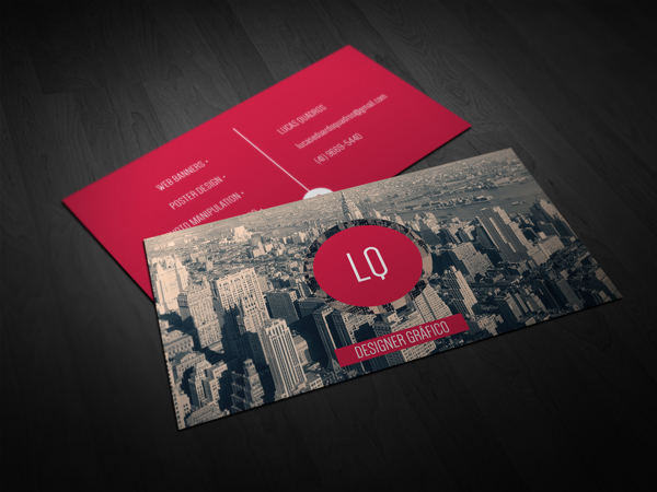 Business Card by Lucas Quadros in Showcase of 50 Creative Business Cards