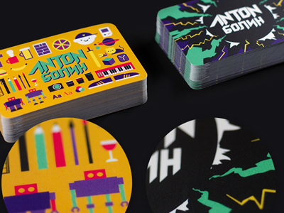 Business Cards 2014 by Anton Bohlin in Showcase of 50 Creative Business Cards