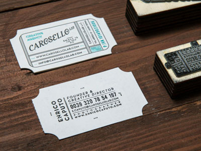 Business card detail by Daniele Simonelli in Showcase of 50 Creative Business Cards