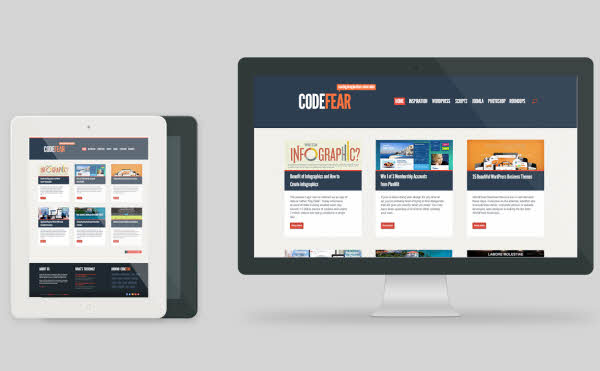 CodeFear in 23 Free HTML Templates