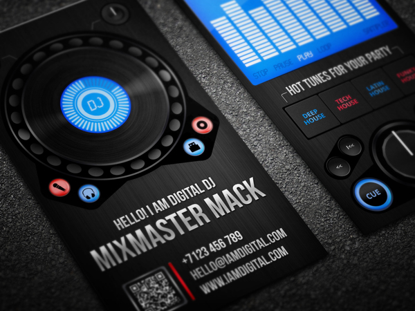 Digital DJ Business Card by Serge Gray in Showcase of 50 Creative Business Cards