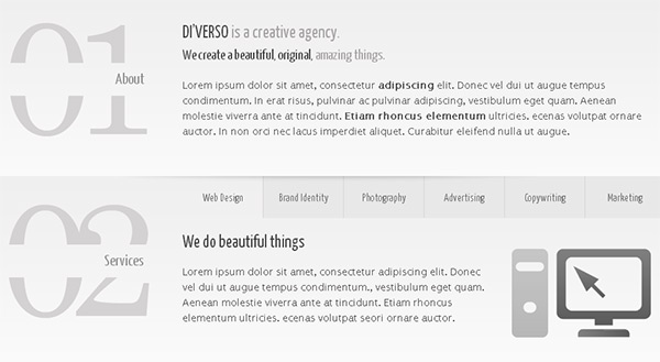Diverso in 23 Free HTML Templates